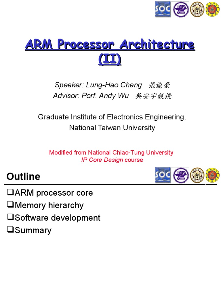 ARM Processor Architecture (II) | Arm Architecture | Cpu Cache