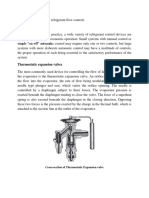 Study of Different Refrigerant Control lab manual