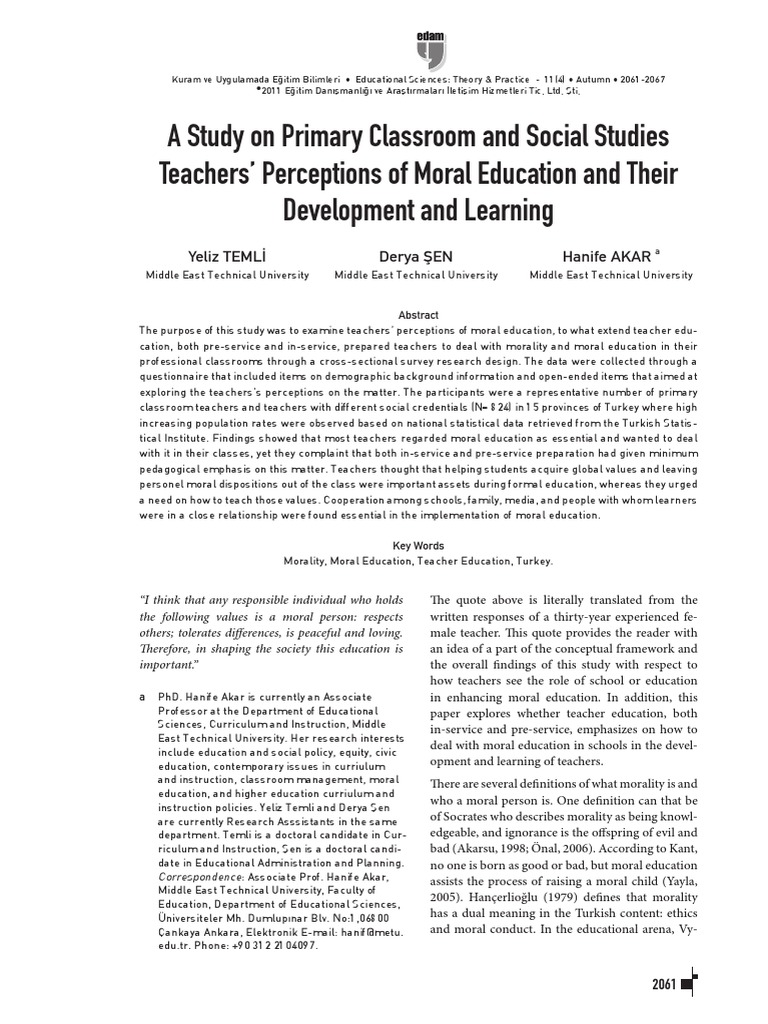 Middle East | Survey Methodology | Teacher Education