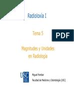 Tema 5_Magnitudes y Unidades Radioloxía I Curso 2017_2018