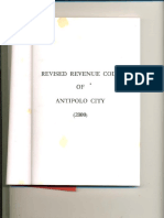Revised Revenue Code of Antipolo City, 2000