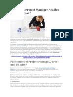 Qué Es Un Project Manager y Cuáles Son Sus Tareas