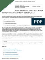 Recommandations de Réseau Pour Un Cluster Hyper-V Dans Windows Server 20128en
