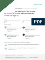 Fontana Et Al (2010) Caracterização de Susbtâncias Húmicas Da Camada Superficial Do Solo Sob Diferentes Coberturas Vegetais1
