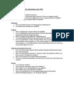 Checklist for FOA Planning