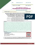 QUALITATIVE AND QUANTITATIVE ESTIMATION OF TOTAL PHENOLICS AND TOTAL FLAVONOIDS IN LEAVES EXTRACT OF SARACA ASOCA (Roxb).