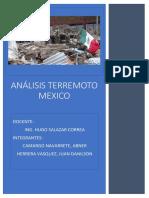 Análisis Terremoto Mexico