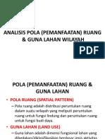 Evaluasi Pola (Pemanfaatan) Ruang & Guna