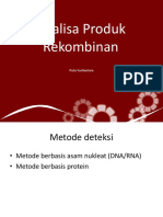 Analisa Produk Rekombinan