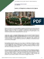 De Mattei Roberto_ El Sínodo y El Magisterio Ordinario de La Iglesia