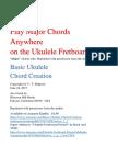Play Major Ukulele Chords Anywhere on the Fretboard