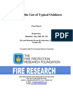 Assessing the List of Typical Oxidizers
