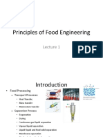 Principles of Food Engineering Lecture 1