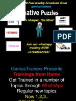 Week 28 Creative Puzzles