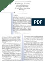 A Apropriação Do Sistema de Notação Alfabética e o Desenvolvimento de Habilidades de Reflexão Fonológica