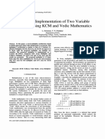 Design and Implementation of Two Variable Multiplier Using KCM and Vendic Mathematics