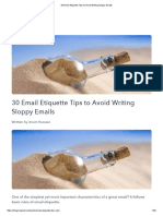 30 Email Etiquette Tips to Avoid Writing Sloppy Emails
