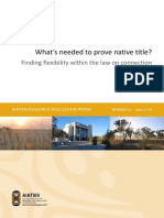 Whats Needed to Prove Native Title
