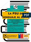 Afiche comunidad lenguaje
