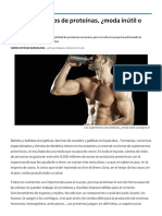 Los suplementos de proteínas, ¿moda inútil o peligrosa_
