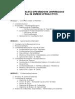 Contenido Basico Diplomado de Confiabilidad Integral de Sistemas Productivos
