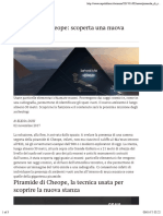 Piramide Di Cheope- Scoperta Una Nuova Stanza