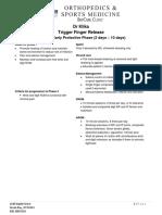 Trigger Finger Release Protocol
