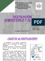Destilación Atmosferica y Al Vacio
