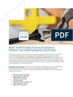 8 Steps to Ensure PdM Success - Excellent - Not Taken Yet !!!