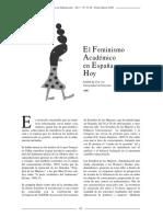 Panorama Feminismo Academico España