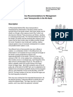 Best Practise Recommeondations for Management of Flexor Tenosynovitis in Rheumatoid Arthritis
