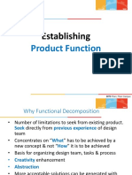 Establishing Product Function Structure