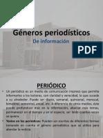 Géneros Periodísticos de Información. Octavo (2017)