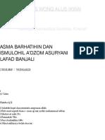 Asma Barhatihin and Ismul a'Zom Suryani