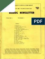 BEEBUG cover v1n3