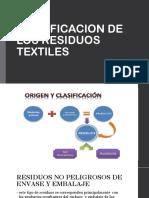 Clasificacion de Los Residuos Textiles