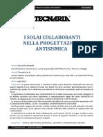 i Solai Collaboranti Nella Progettazione Antisismica