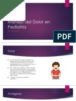 Manejo Del Dolor en Pediatría