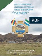 Estatuto Comunal y Reglamento Interno Comunidad Originaria Yanari