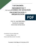 Tafonomia Fundamentos y Aplicaciones - Martinell, J