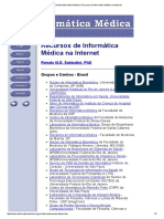 Revista Informática Médica_ Recursos de Informática Médica Na Internet