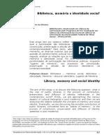 Biblioteca, Memória e Identidade Social