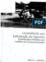 Consultoria Em Psicologia Do Esporte, Orientações Práticas Em Análise Do Comportamento - Garry L. Martin, 2001 [INDEX]