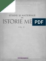 Studii Si Materiale Istorie Medie 04 (1960)