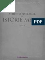 Studii Si Materiale Istorie Medie 05 (1962)
