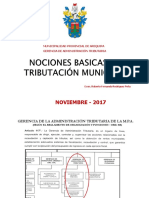 Enviando Tributación Municipal - Nociones Básicas - Octubre 2017