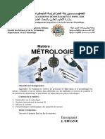 Cours Métrologie 2LGM GC