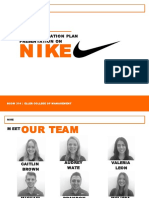 nike final communication presentation