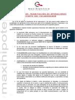 Protocolo de Tramitacion, Relacion Documentacion y Ficha Preestudio Colaboradores