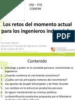 Los Retos Del Momento Actual Para Los Ingenieros Industriales-F Villaran-UNI-FIIS- CONFINI-26 Oct2017